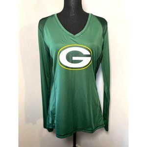 Ladies NFL Green Bay Packers long sleeve v-neck jersey
